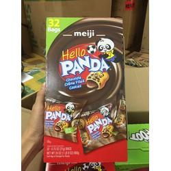 Bánh Hello Panda kem sô cô la Meiji thùng 32 gói