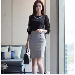 Chân váy công sở style Hàn quốc