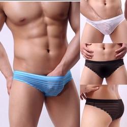 Quần bikini lưới kẻ Sọc
