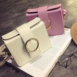 Túi nữ dạng hộp khóa tròn cực style
