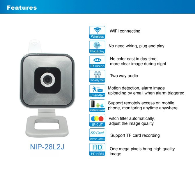 CAMERA WIFI NEO COOLCAM NIP-28 HD 1280X720 1