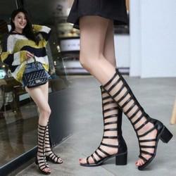 Giày sandal chiến binh gót vuông 6cm