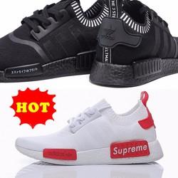 Giày thể thao nam nữ sneaker NMD thời trang có 2 màu trắng và đen