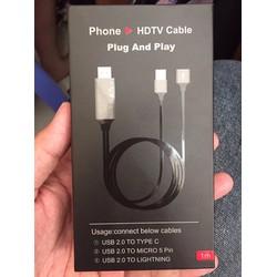 cáp HDMI ra tivi đa năng dùng cho tất cả các đt smart phone hiện nay