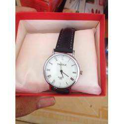 Sale off Đồng hồ dây da nam nữ Yazole đen, thời trang, giá rẻ Cần Thơ