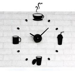 trang trí nhà cửa - đồng hồ treo tường 3D - mẫu cafe