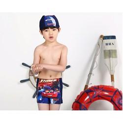 Quần bơi hình oto đỏ 2 đến 8 tuổi