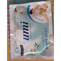 Kem và bột tắm trắng Ngọc trai Trà Xanh Umi