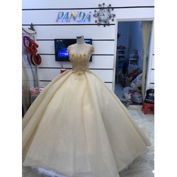 áo cưới da nude ren 3d