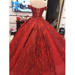 áo cưới kim sa ren cao cấp hàng co sẵn
