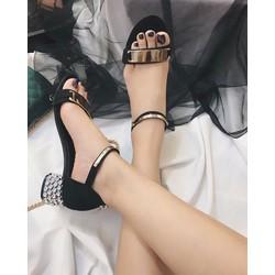 giày cao gót hở mũi gót đá