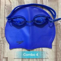 combo nón và kính bơi phoenix 203