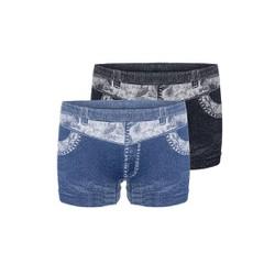 Bộ 2 quần đùi giả jeans Akio Wash jeans