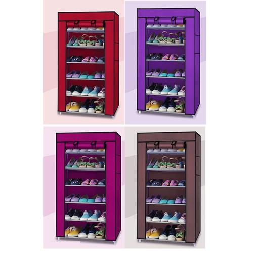 [Sốc Siêu Sale] tủ giày 6 tầng - Kệ giày - Tủ vải