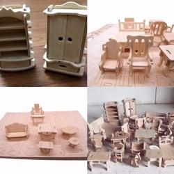 Mô hình 3D bằng gỗ