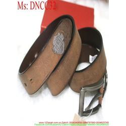 Thắt lưng nam mặt xỏ kim chất liệu dây da bò cao cấp DNCC32