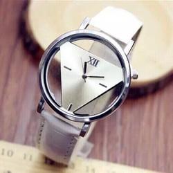 đồng hồ dây da mặt tam giác