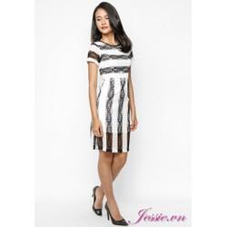 Đầm ren sọc trắng đen của nhãn hàng Jessie Boutique