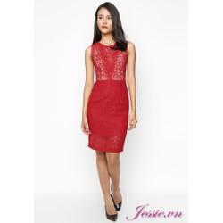 Đầm ren cổ tim đỏ của nhãn hàng Jessie Boutique