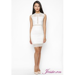 Đầm ren lập thể trắng của nhãn hàng Jessie Boutique