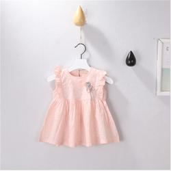 Váy bé gái chấm bi cài bông siêu đáng yêu cho bé - V0211