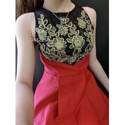 Đầm xoè phối ren hoa sn hàng thiết kế
