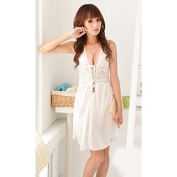 Đầm Ngủ Xinh Lụa Trắng Quyến Rủ MS730