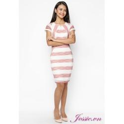 Đầm ren sọc trắng hồng của nhãn hàng Jessie Boutique
