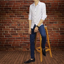 quần jean nam xanh body