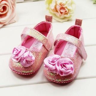 giày tập đi đế vải bé gái 0 đến 12 tháng