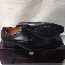Giày tây nam cột dây công sở kiểu trơn màu đen giá rẻ