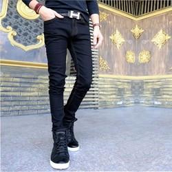 quần jean den chỉ vàng body