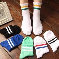 Bộ 03 đôi vớ sọc phong cách Hàn Quốc chọn màu tùy ý