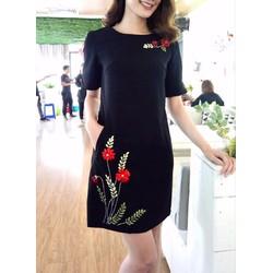 Đầm suông in hoa 3D đơn giản dễ thương