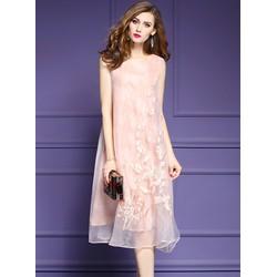 Đầm Hoa Họa Tiết Thêu Sang Đẹp NHẬP CAO CẤP A17229