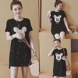 Đầm teen suông dài hình Mickey M