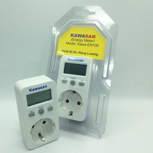 đồng hồ đo công suất, ổ cắm, thiết bị đo điện năng tiêu thụ kawa EN106