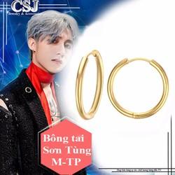 Bông tai inox thời trang của Sơn Tùng M-TP màu vàng giá rẻ nhất HCM