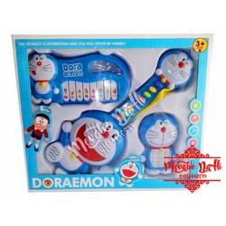Bộ 3 đàn Doremon 1232 - Dùng pin, có đèn, nhạc