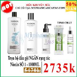 Trọn bộ NIOXIN SỐ 1  dầu gội ngăn rụng tóc 1000ml