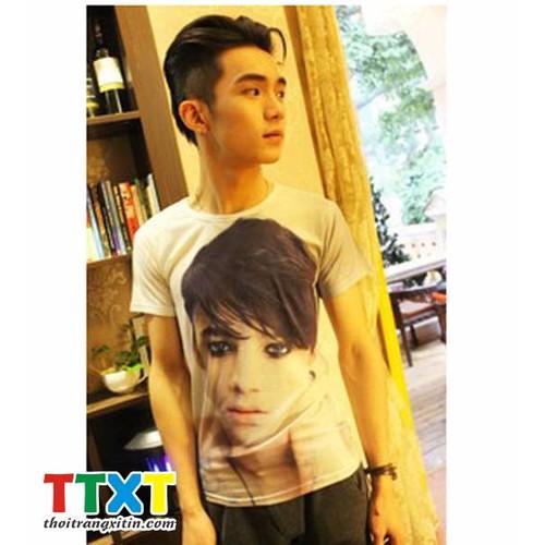 áo thun nam hình mặt người Mã: NT668 - 8