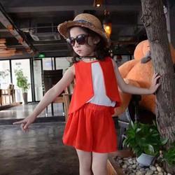 Hàng nhập bộ bé gái giả vest cực sang chảnh mùa hè