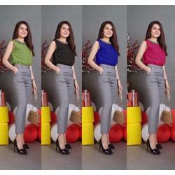 EJ793 Set nguyên bộ áo đính quần dài xinh xắn