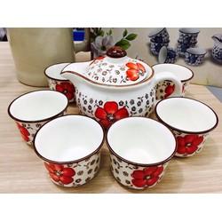 Bộ tách trà hoa văn Nhật Bản