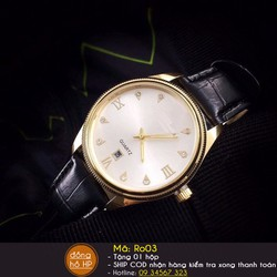 Đồng hồ nam viền vàng