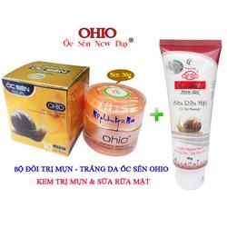 Bộ mỹ phẩm trị mụn cao cấp 10 tác dụng OHIO Ốc Sên New Day