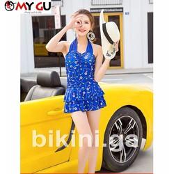 Bộ bikini xinh xắn, đáng yêu BI02 - Màu xanh dương