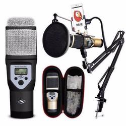 Bộ micro hát karaoke và hỗ trợ thu âm kèm khung M5