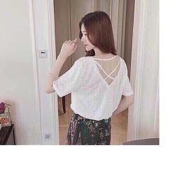 Áo thun nữ đan dây sau lưng cực xinh