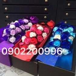 Hộp hoa hồng sáp thơm cao cấp 2 bông đỏ